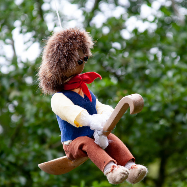 """""""Kettlewell Scarecrow Festival and Trail, Little Jack Horner. Yorkshire Dales, England."""" stock image"""