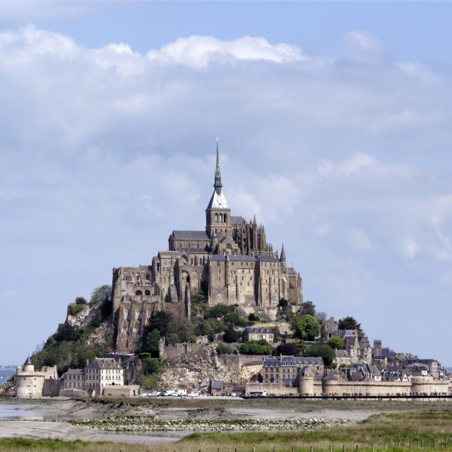 """Mont-Saint-Michel"" stock image"