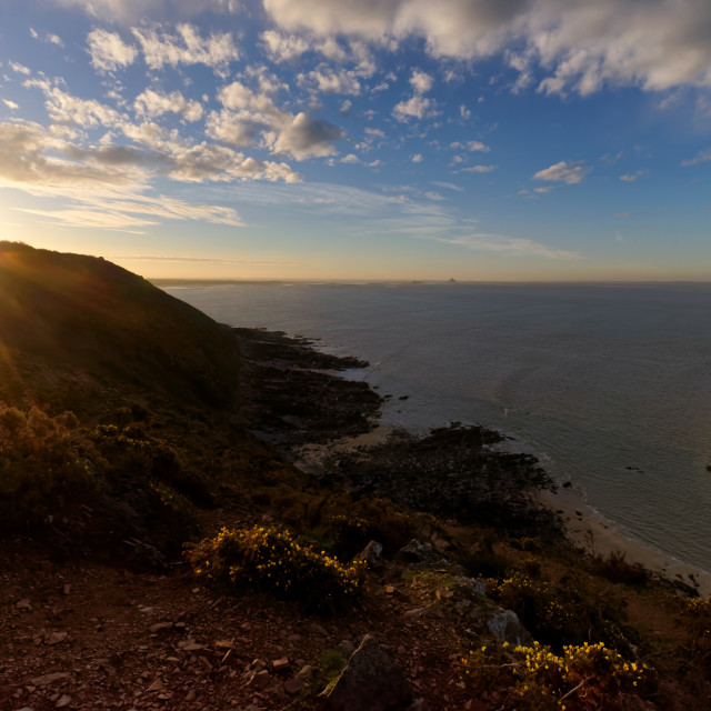 """Champeaux cliffs sunrise"" stock image"
