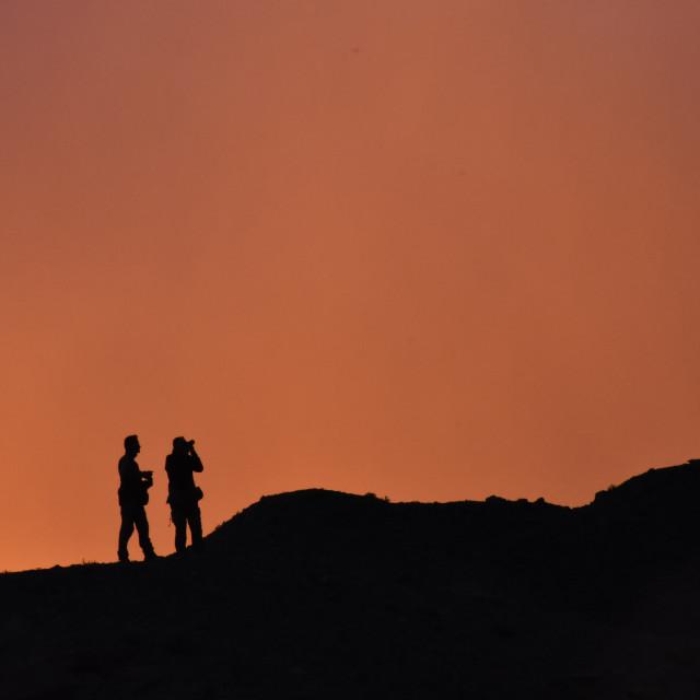 """Gobi Sunset"" stock image"