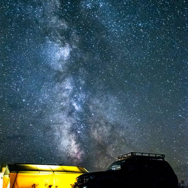 """""""Milky way in the Gobi"""" stock image"""