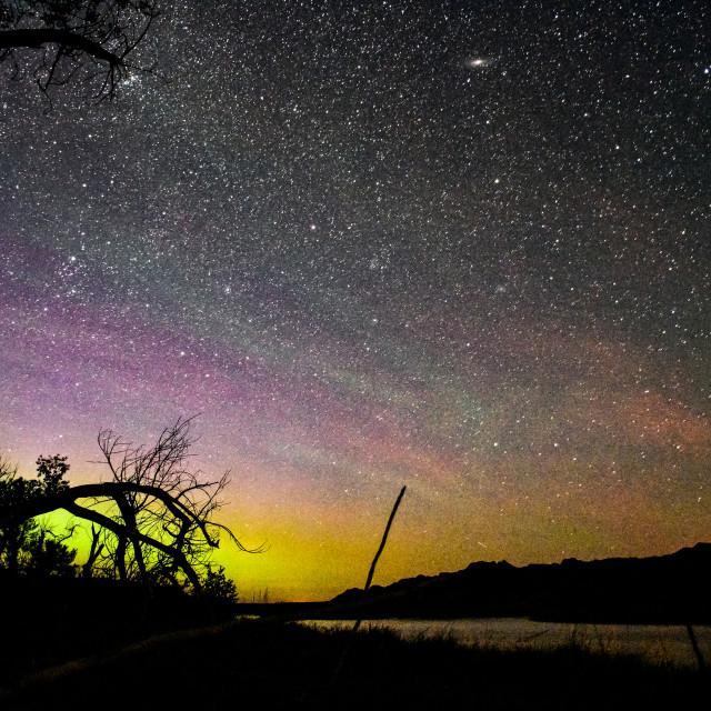 """""""Stars and Aurora"""" stock image"""