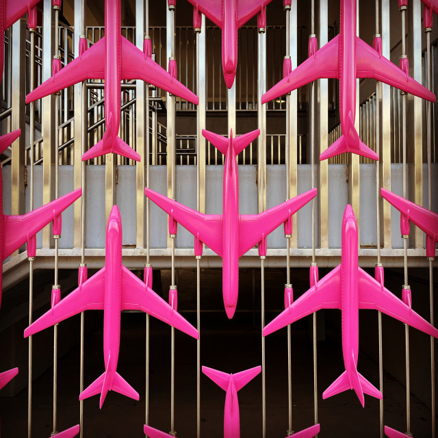 """""""Pink Planes"""" stock image"""