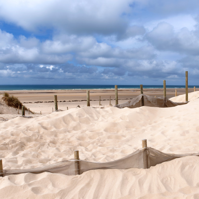 """Sand Dune Protection"" stock image"