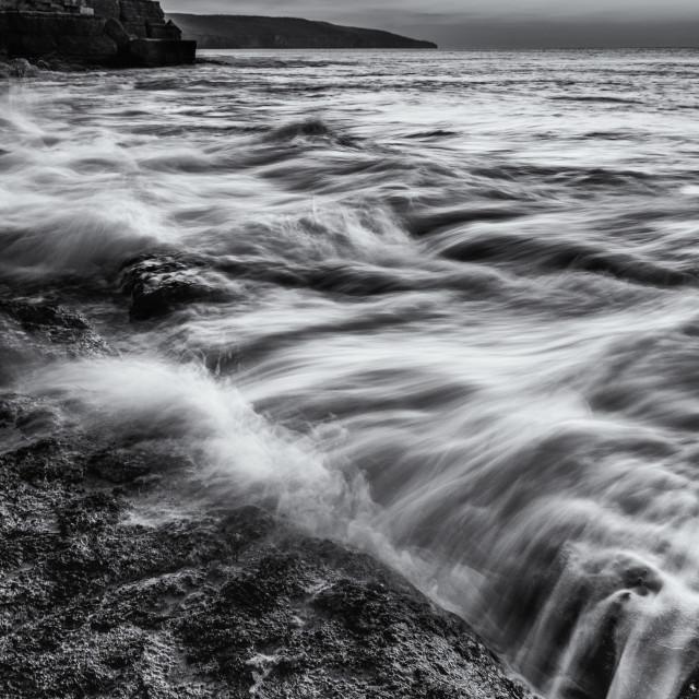 """Winspit quarry waves"" stock image"