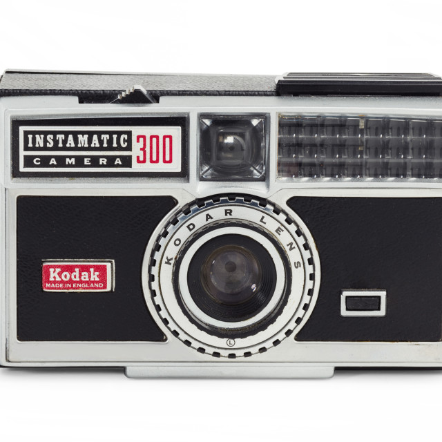 """Kodak Instamatic 300 camera"" stock image"