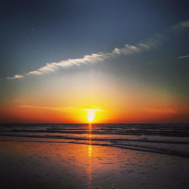 """Galveston Sunrise"" stock image"