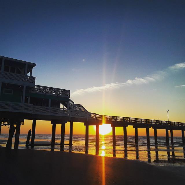 """Pier sunrise"" stock image"