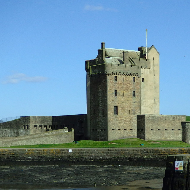 """""""Broughty Ferry Castle"""" stock image"""