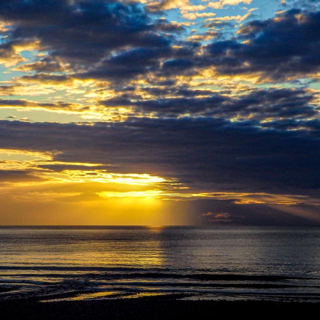 """""""Stonehaven Bay Sunrise"""" stock image"""