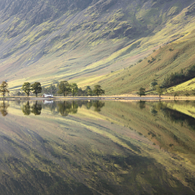 """""""Buttermere Reflections"""" stock image"""