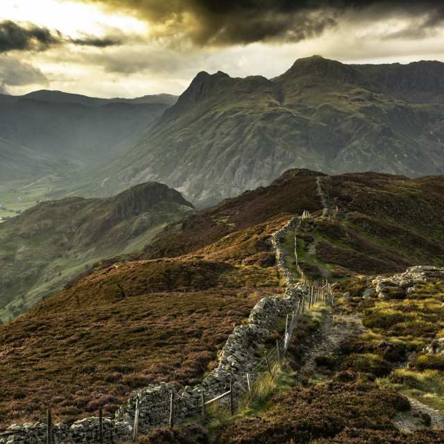 """""""Langdale Pikes"""" stock image"""