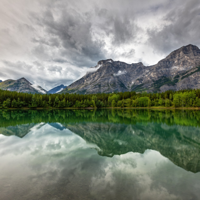 """Wedge Pond on a Stormy Day"" stock image"
