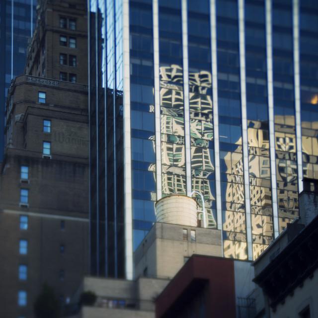 """New York City Reflections"" stock image"