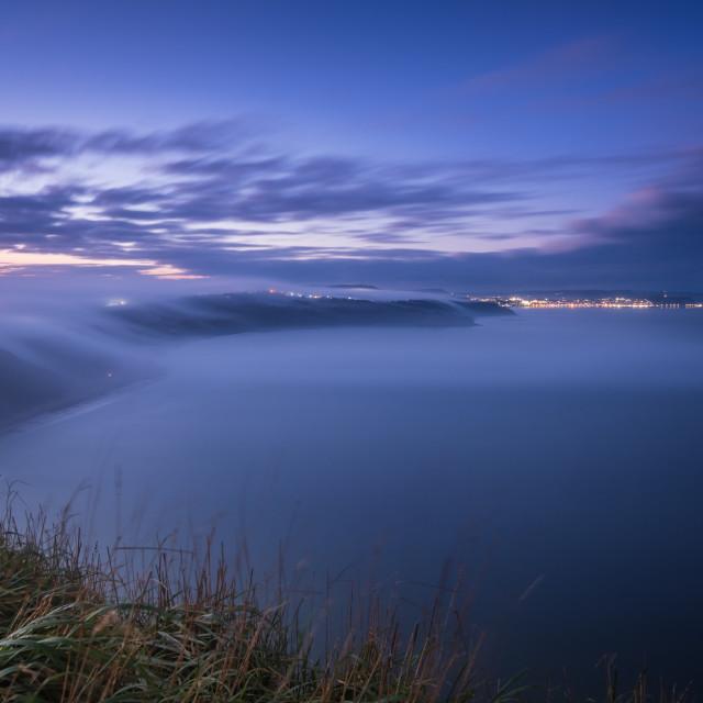 """John Carpenter's 'The Fog' at Cayton Bay"" stock image"
