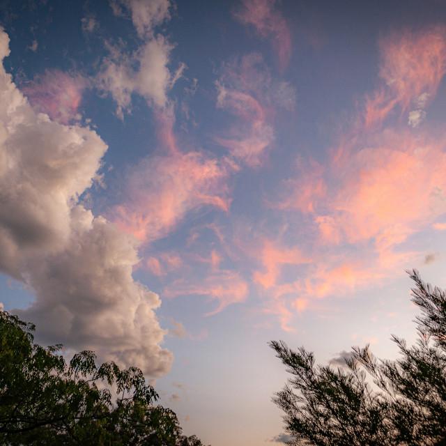 """High Cirrus Sunset"" stock image"