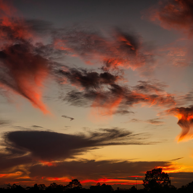 """""""Red Sunset"""" stock image"""