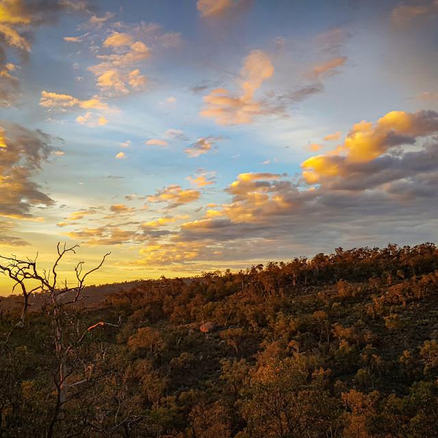 """""""Sunset on the Range"""" stock image"""