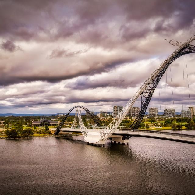 """Matagarup Bridge"" stock image"