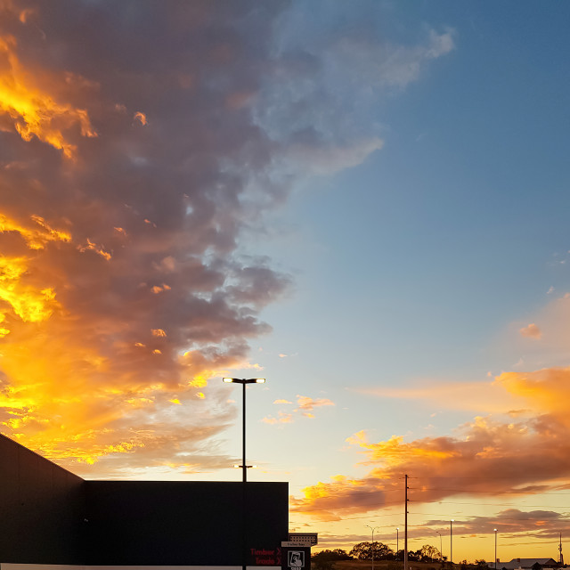 """""""Evening Sky from the Car Park"""" stock image"""