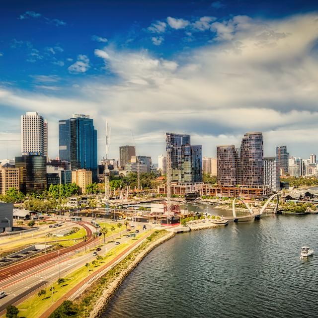 """Perth City Aerial"" stock image"