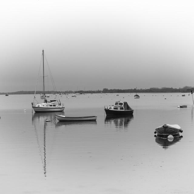 """Harbour at Dawn"" stock image"