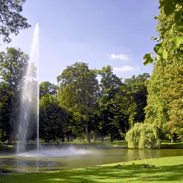 """""""Public park in Breda"""" stock image"""