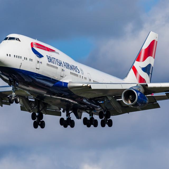 """Boeing B747 British Airways G-CIVT"" stock image"