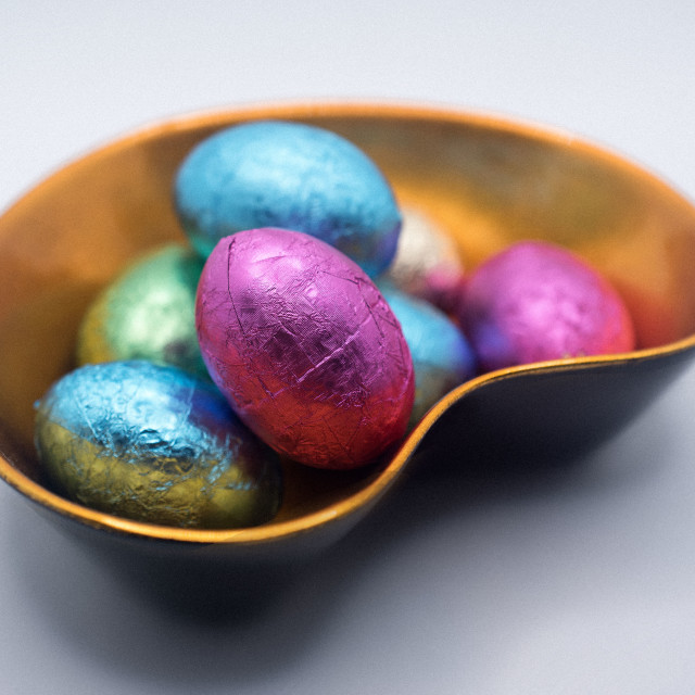 """""""Easter chocolate eggs"""" stock image"""
