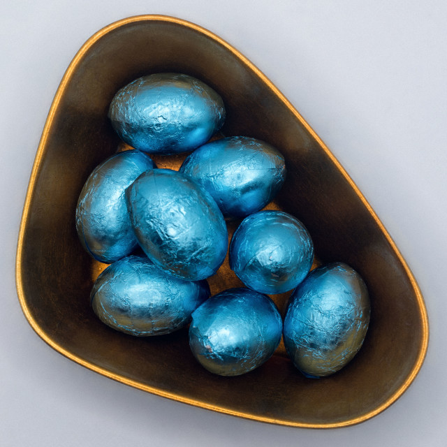 """""""Chocolate Easter eggs"""" stock image"""