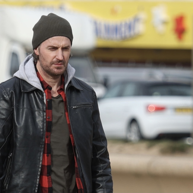 """""""Richard Armitage filming in Blackpool for """"Stay Close"""" series on Netflix"""" stock image"""