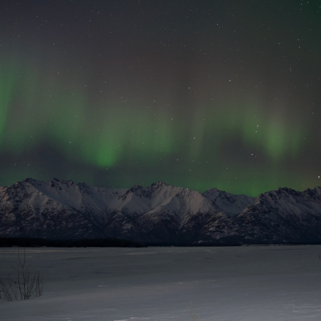 """""""Auroras Dancing on the Mountains"""" stock image"""