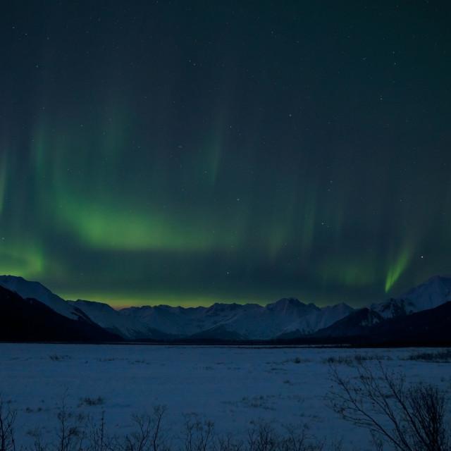 """""""Alaskan Night Sky"""" stock image"""