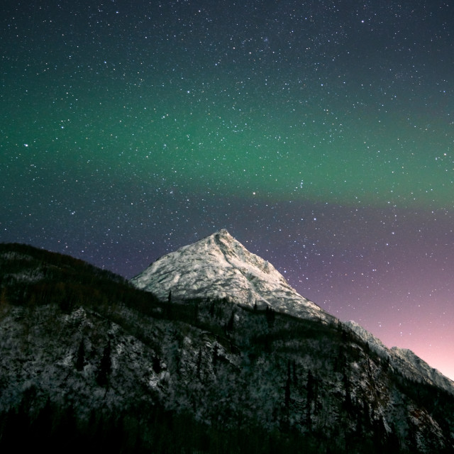 """""""Aurora Band in the Night Sky"""" stock image"""
