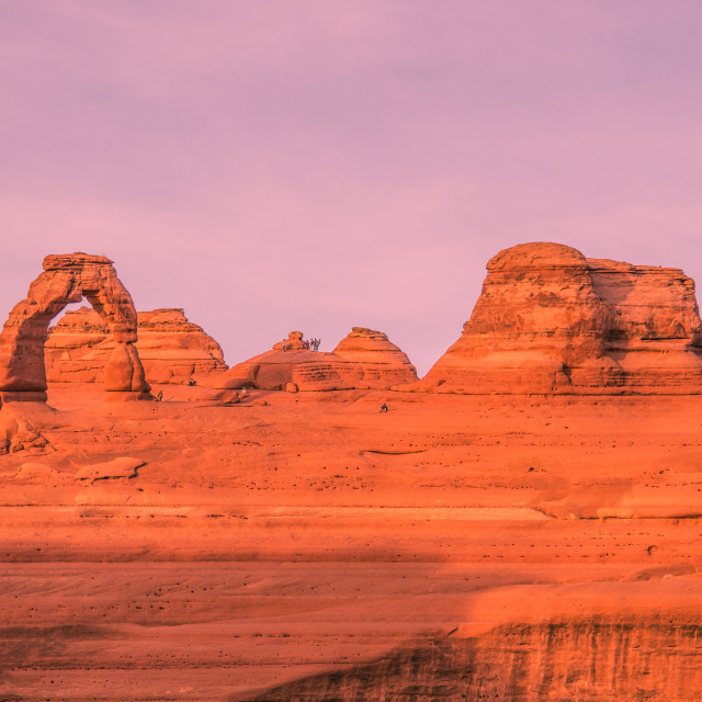 """""""Delicate Arch at Sunset"""" stock image"""