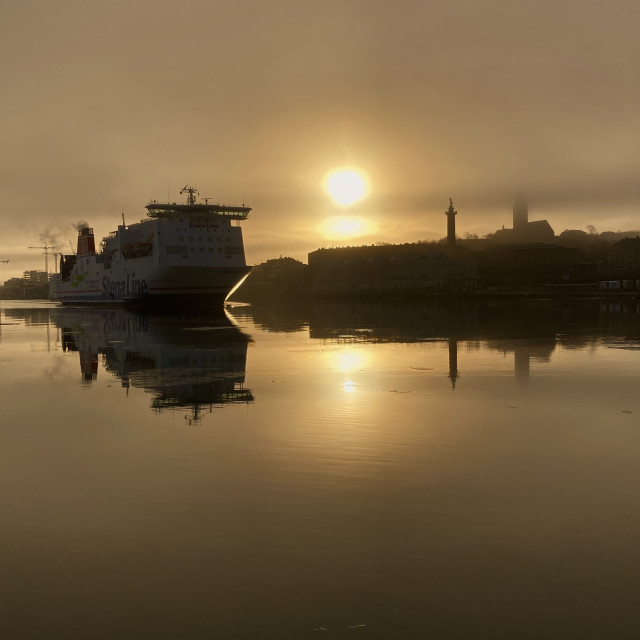 """""""Ferry on the morning"""" stock image"""