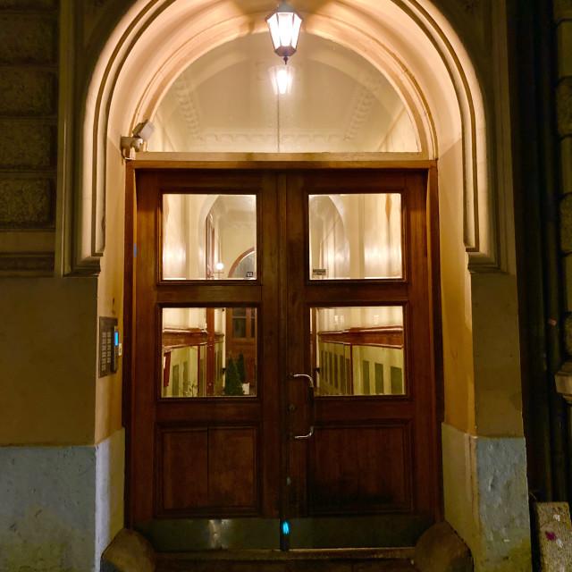 """""""Doors of vasastan 2"""" stock image"""