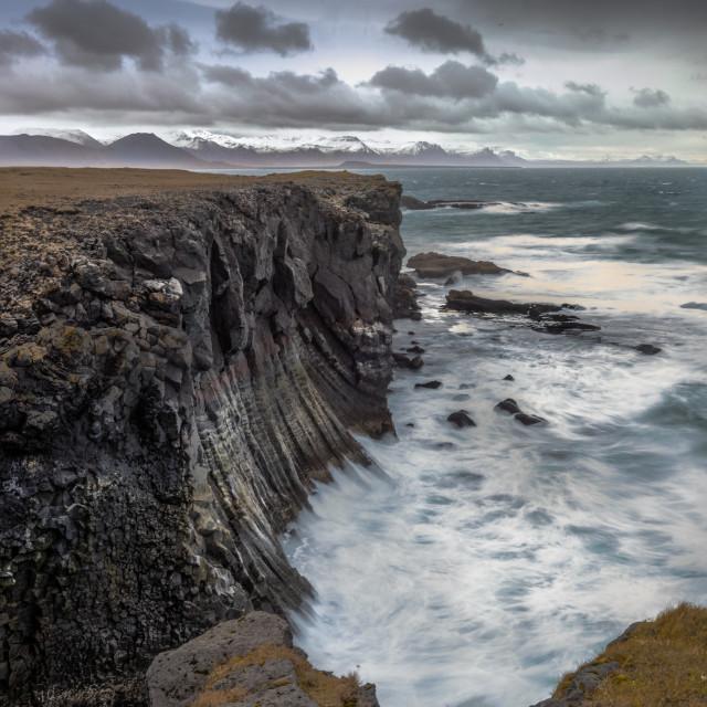 """Cliffs At Arnastapi Iceland"" stock image"