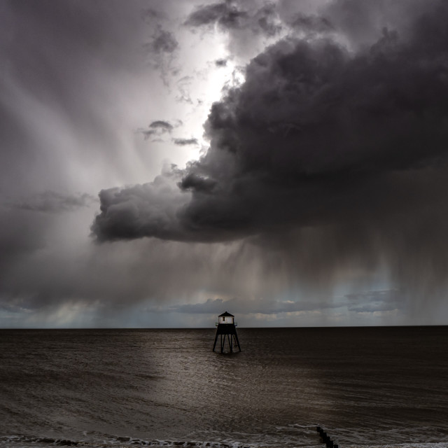 """Dovercourt Lighthouse Weather"" stock image"