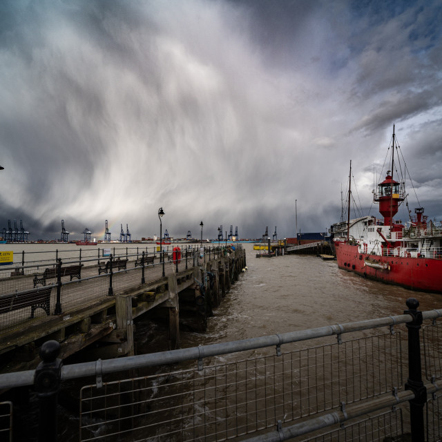 """""""Harwich Extreme Weather"""" stock image"""