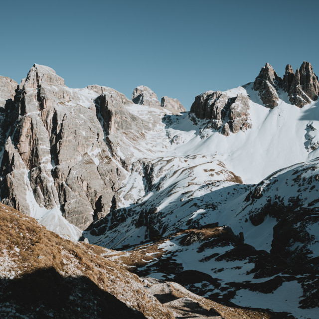 """Scenic ridge of mountains in North Italy"" stock image"