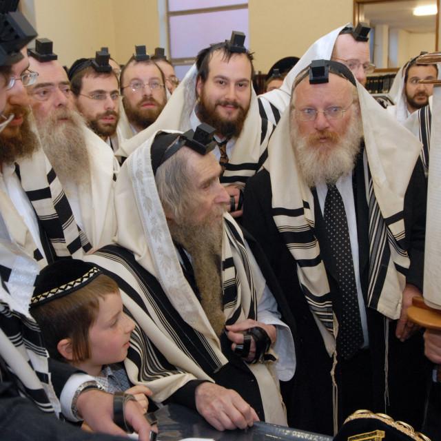 """""""Rav Steinman Aliyah 14"""" stock image"""