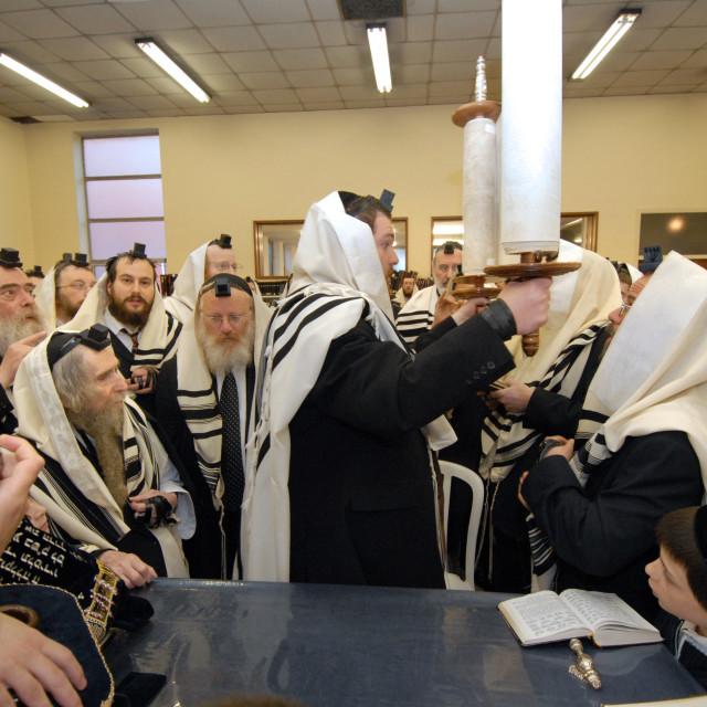 """""""Rav Steinman Aliyah 12"""" stock image"""