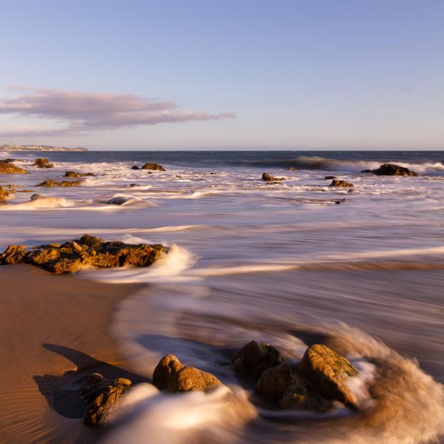 """Waves along the coast"" stock image"
