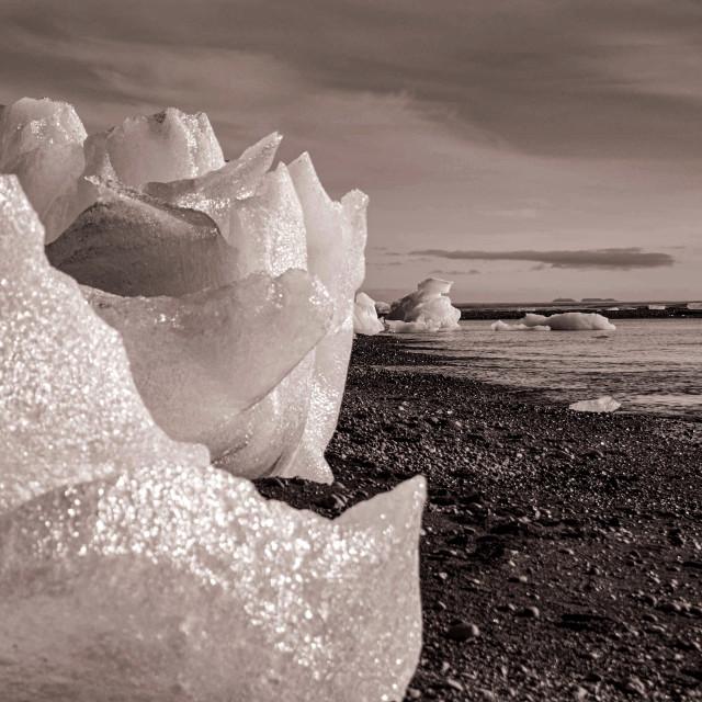"""Diamond Beach Jokulsarlon"" stock image"