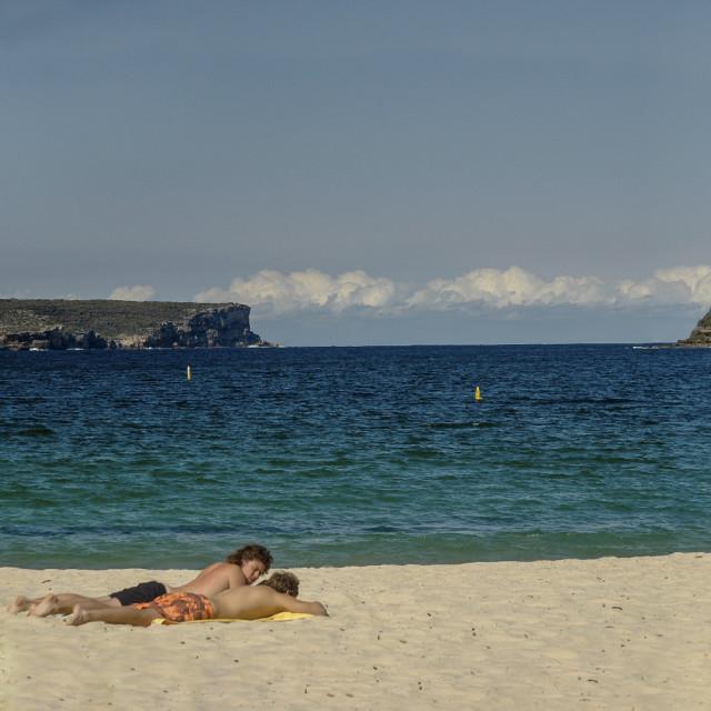 """Edwards (Balmoral) Beach Panorama"" stock image"