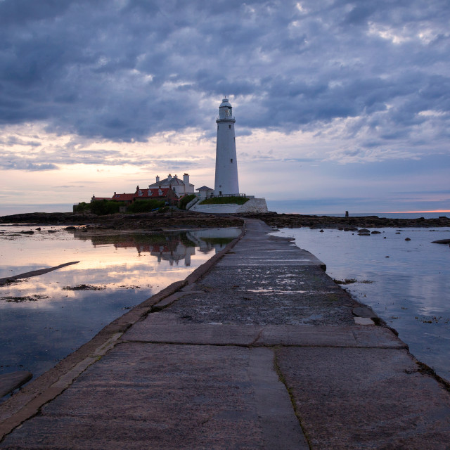 """St Mary's Lighthouse"" stock image"