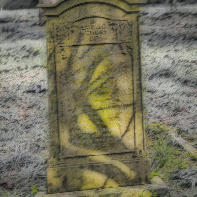 """Gravestone Shadow"" stock image"