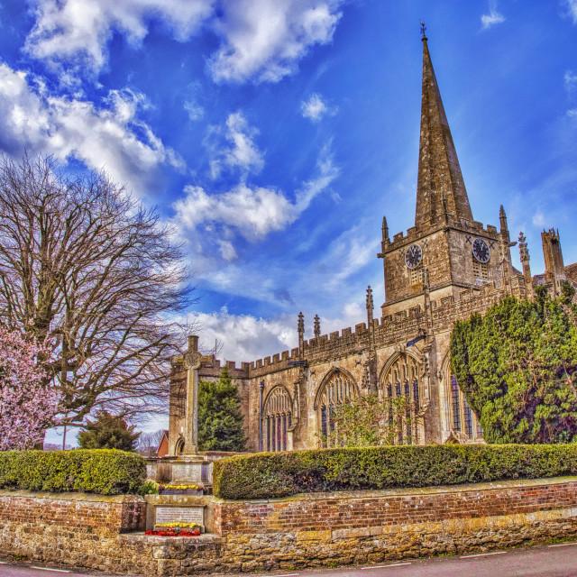 """St Nicholas Church - Bromham, Wiltshire, England"" stock image"