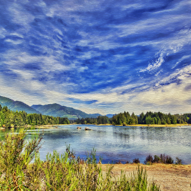 """Fairy Lake - Vancouver Island, BC"" stock image"